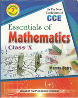 Class X + Essentials of Mathematics-X- CCE + Dhanpatrai Books